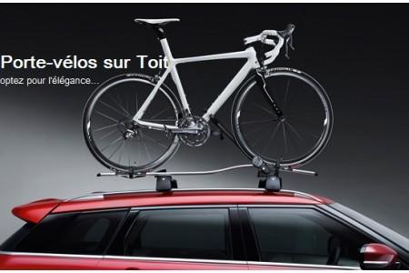 Porte-vélo sur toit